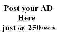 Post your Ad here just @ 250/- Per month