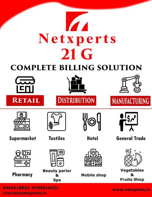 Netxperts- 9443418823 GST Billing Software in Tirunelveli